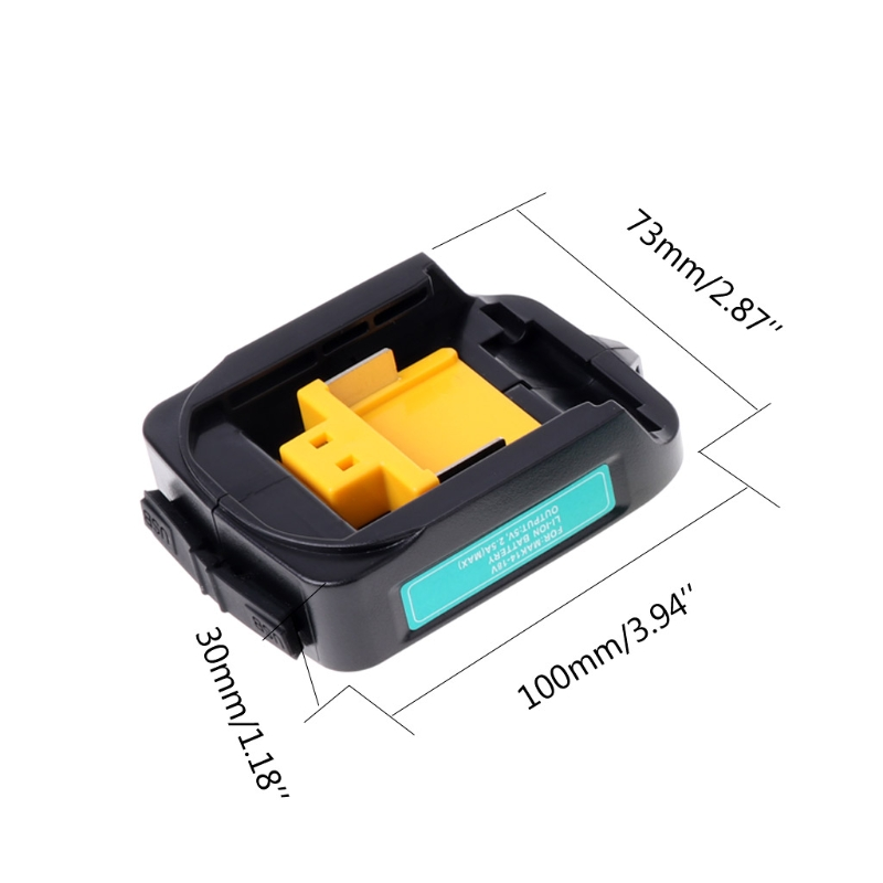 USB Power Charging Adapter Converter For MAKITA ADP05 14.4V-18V Li-ion Battery