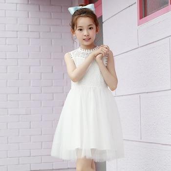 Vestido de verano niñas vestido de niña vestido de los niños adolescentes, ropa de bebé niña de encaje blanco vestido de princesa 8 12 Deguisement Enfant Fille