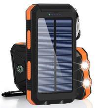 30000 мАч солнечный power Bank Dual USB power bank водостойкий аккумулятор Внешняя Портативная зарядка со светодиодный подсветкой 2USB power bank