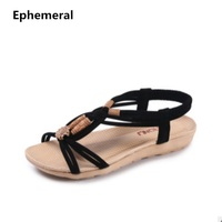 2015 Brand New Personalization Big Size 4 To 9 Leisure Ankle Wrap Flat Sandal In Summer
