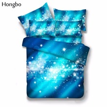 Hongbo 3D Galaxy Duvet Cover Set Twin Queen Bedding Sets Universe Outer Space Themed Bed 2 Pcs/3 Pcs/4 Pcs/Set