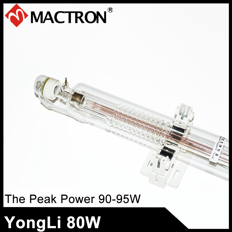 1 Piece 1600mm Dia 60mm Yongli 80W Water Cooling Co2 Laser Tube For Laser Cutting and Engraving Machine цены