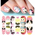 see details 1 set 12 strips press fashion jetoy choo cat series 3d wrap nail art polish stickers love see details