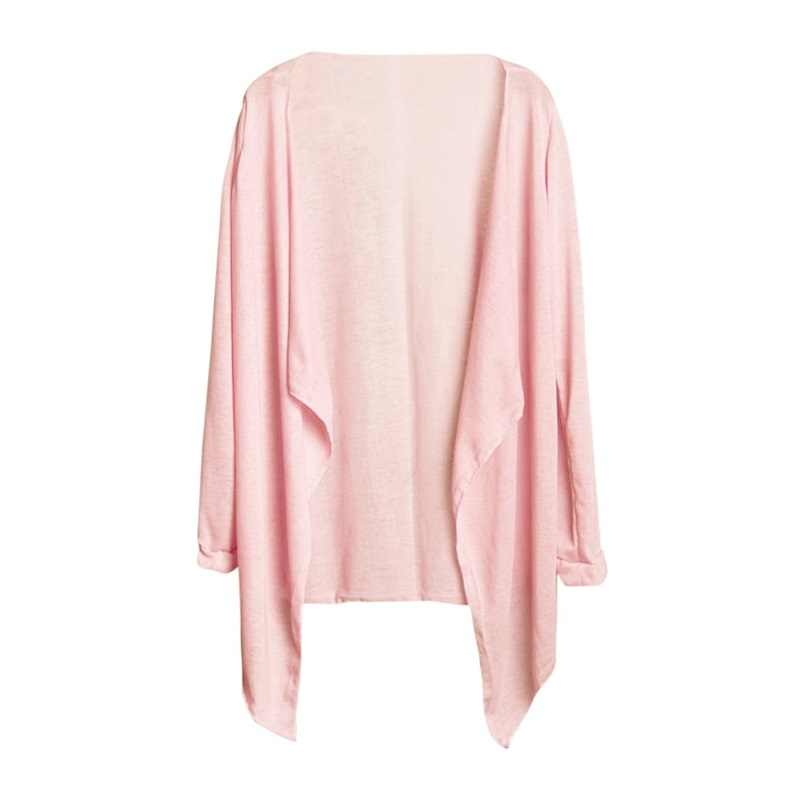 Summer Long Thin Women's Cardigan Large Size Sunscreen Long Sleeves Spring and Autumn Knitting Sun Protection Camisa Feminina