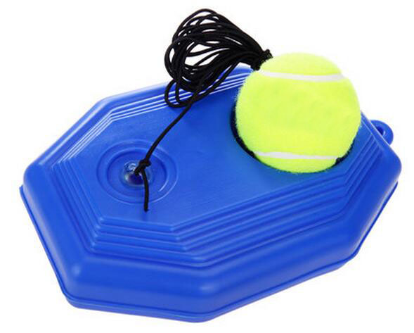 Outdoor Tennis Training Ball Elastic Rubber Band Tennis Ball Trainer With Plastic Base