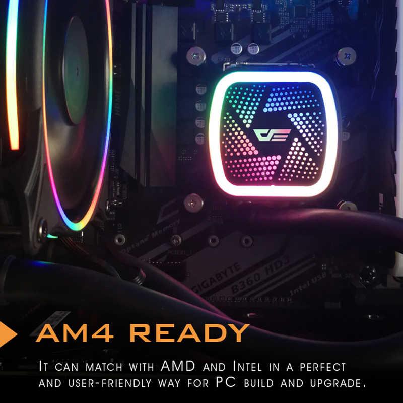 AIGO CPU Liquid 120mm Tản Nhiệt Êm Quạt PWM Máy Tính Làm Lạnh Nước Tất Cả Trong Một CPU làm mát INTEL/AMD AM4 với Hỗ Trợ