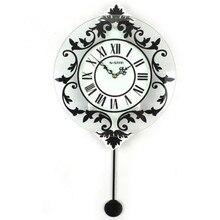 Modern European decorative Rome creative fashion clock personality Modern Decoration Fashion Mute Swing Wall Clock 31.5*58CM