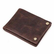 TIDING vollnarbenleder leder-mappenmänner münze dünne kurze bifold geld clip einfache und eleganten stil 40371