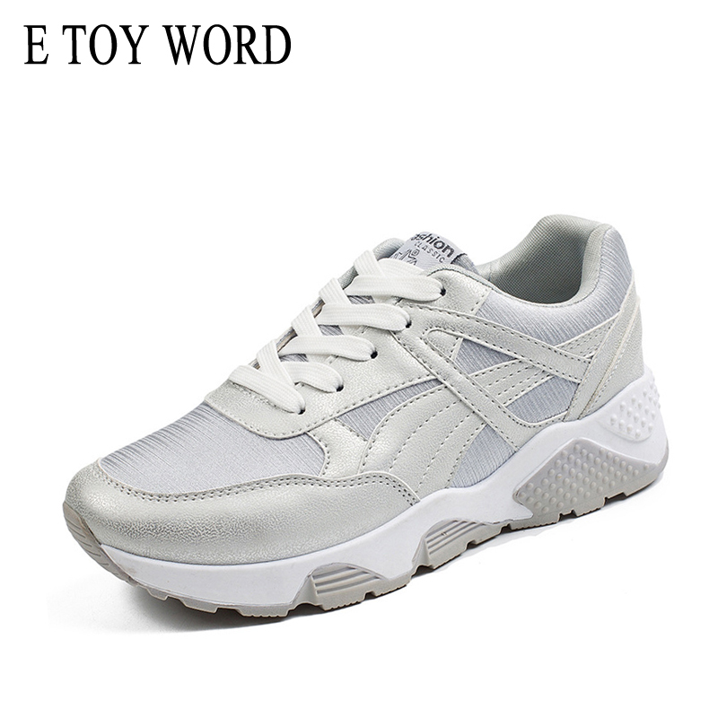 E TOY WORD Women Outdoor Sneaker Brand 2018 Autumn Summer Light Walking Shoes Lace Up Breathable Sneakers Casual Shoes Female e toy word women boots autumn winter