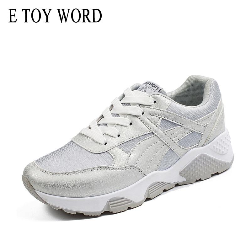E TOY WORD Moteriškos sportbačiai Pavasaris Nauji dizainerio - Moteriški batai