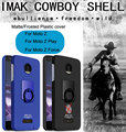 Imak Cowboy Plastic Case Cover For Motorola Moto Z Play Finger Grip Ring Holder Protective Shell For Moto Z Force