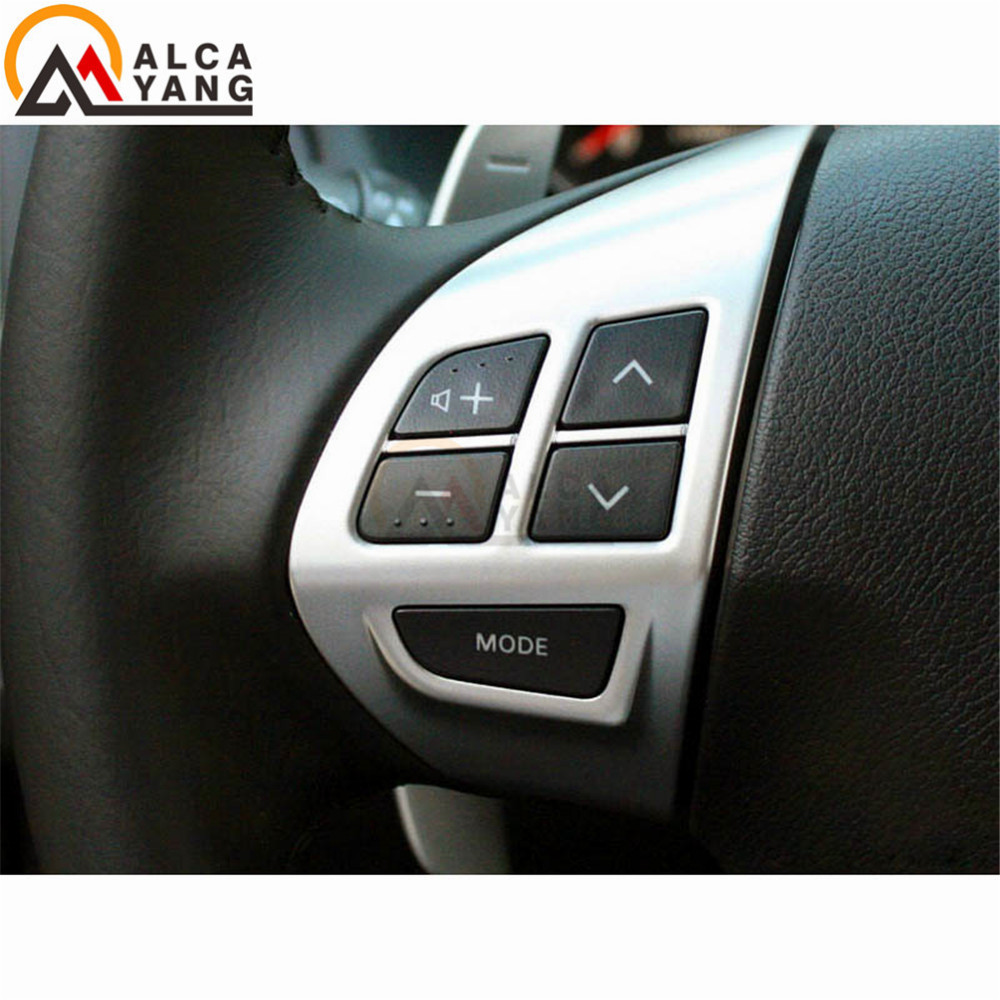 New Steering Wheel Volume Sound Button Left Fit for MITSUBISHI LANCER OUTLANDER ASX 2007 2008 2009 2010 2011 alloy fuel door gas cover tank cap for mitsubishi lancer 2008 2009 2010 2011