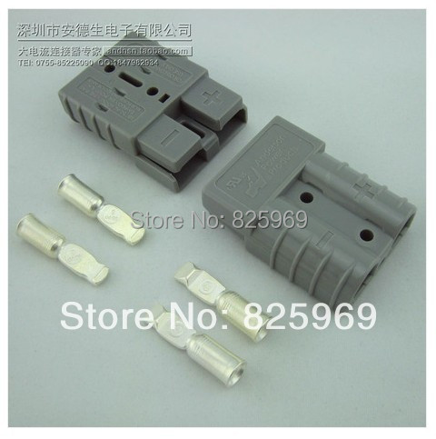 Free shipping  2P 50A 600V Power Connector Battery Plug + terminals Connectors kits For Forklift Stacker electrocar  free shipping 1 sets new smh 2p 175a 600v power connector battery plug male