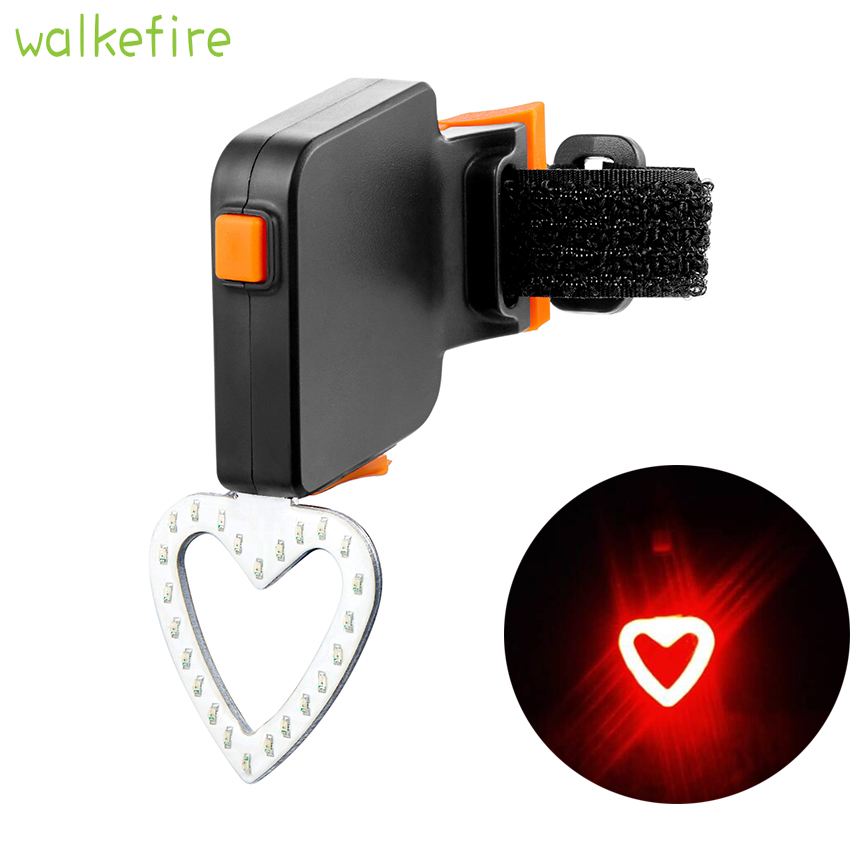Bike Rear Tail Light Bicycle Back Lamp Cycling LED Heart Ball Waterproof
