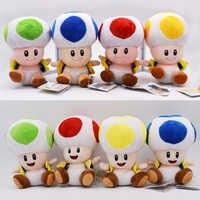 16 cm Super Mario Bros Mushroom Kröte 4 Farben Super Mario Plüsch Spielzeug Gefüllte Puppe Heiße Spielzeug Für Kinder