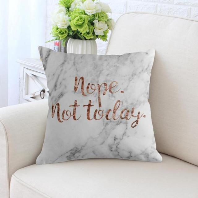 White Marble Pillow Case Pattern Pop Art Printed Modern Nordic Home Decor Rose Gold Geometric Cushion Cover For Office Chair