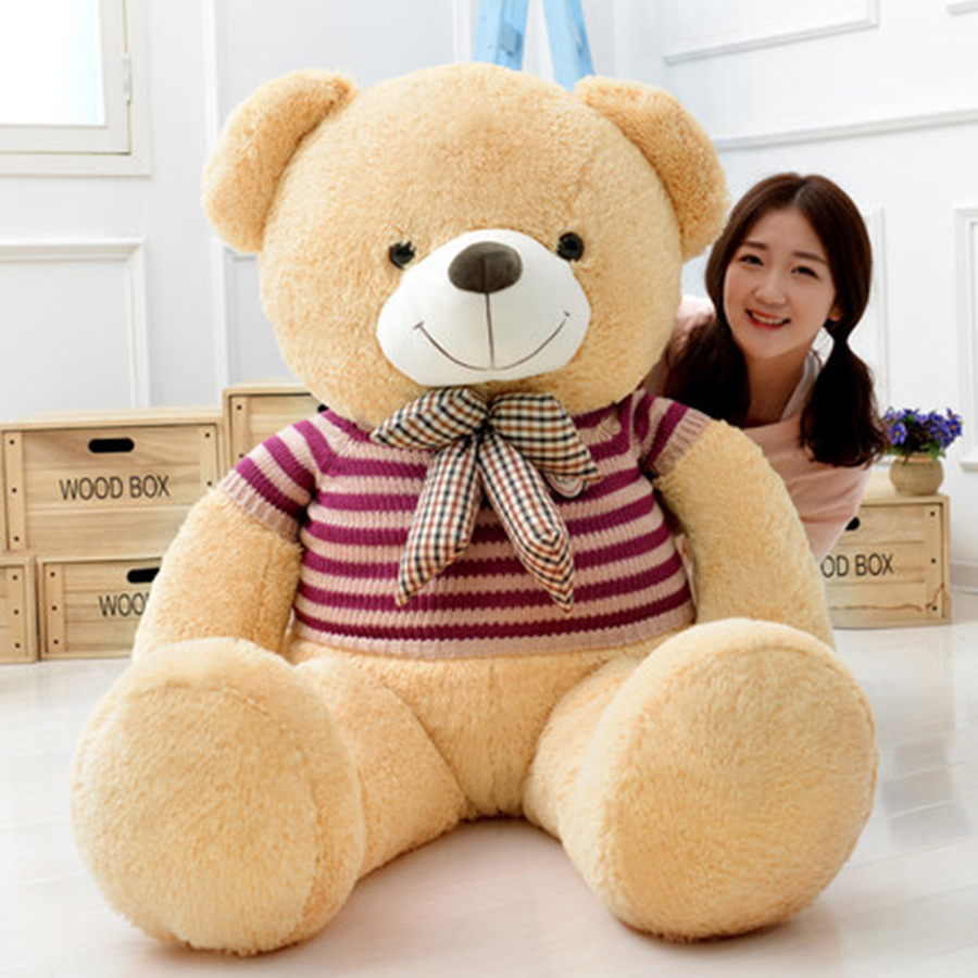 Giant Teddy Bear Plush Soft Toys Doll Bear Sleep Girls Gifts Birthday Kawaii Large Teddy Bear Stuffed Animal Plush Toy 70C0426 kawaii 140cm fashion stuffed plush doll giant teddy bear tie bear plush teddy doll soft gift for kids birthday toys brinquedos