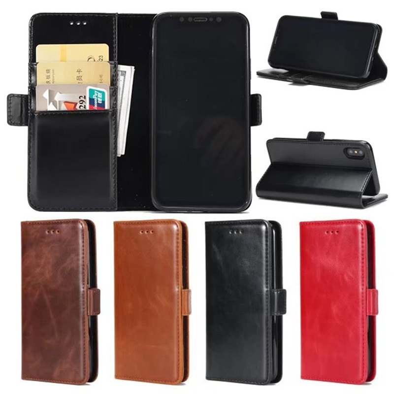 For iphone X case Luxury Wallet Flip PU Leather Back Cover for iphone 6 6s 7 8 Plus 10 Phone Bag Coque With Stand