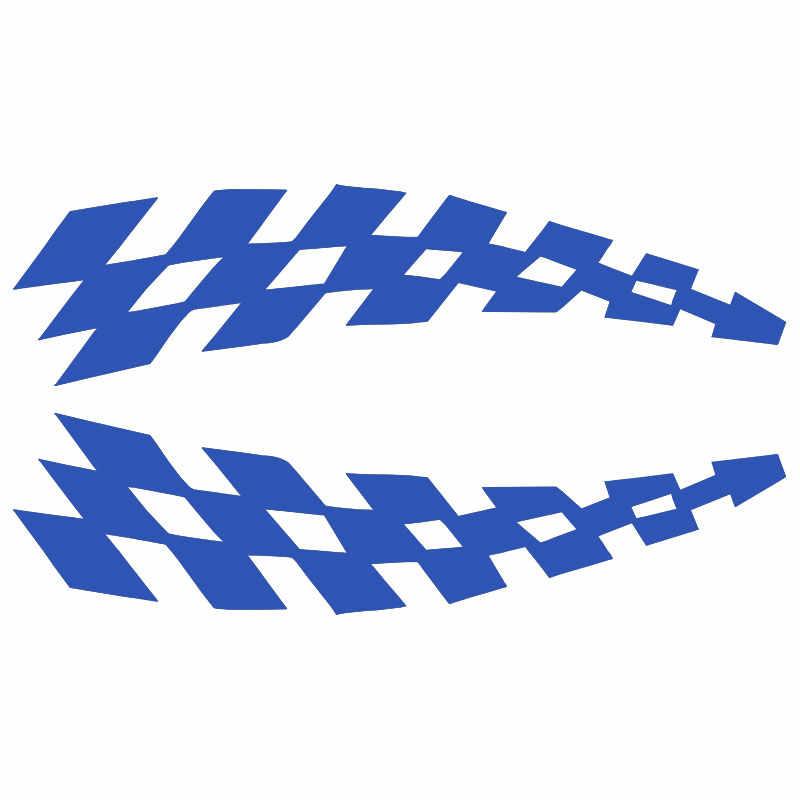 Da corsa Adesivi Veicolo Decalcomanie Auto Sopracciglio Ruota Bandiere A Scacchi di Sicurezza Riflettore Adesivi In Vinile di Prevenzione per Audi BMW Jeep