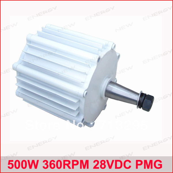 500W 360RPM 28VDC horizontal wind & hydro alternator/ permanent magnet water power dynamotor hydro turbine new energy