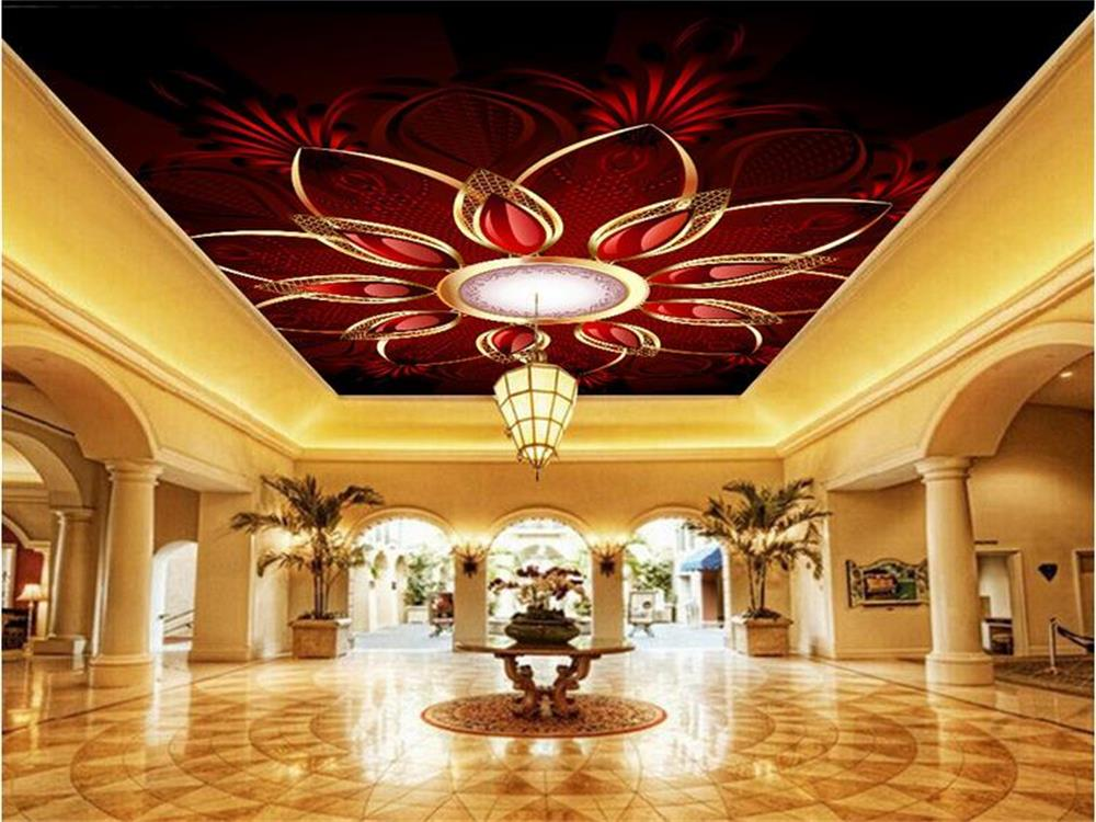 3D wallpaper ceiling/custom photo wall paper/beautiful Nine rubies/Bedroom/KTV/Hotel/bar/living room/Children room