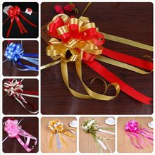 Beautiful Two-tone Pull Flower Gift Packaging large Pull Bow Ribbons Flowers Christmas Decorative Fe