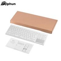 Alphun HOT SALE New Ultra Slim Aluminum Wireless Bluetooth Keyboard For IOS Android Windows PC Working