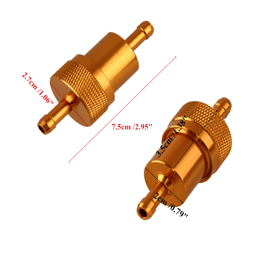 10pcs Hot Sale Gold Aluminum Oil Gas Fuel Filter for Go Kart Moped Scooter  Buggy Motocross Motorcycle Fuel Filters Oil Cleaning-in Oil Filters from ...