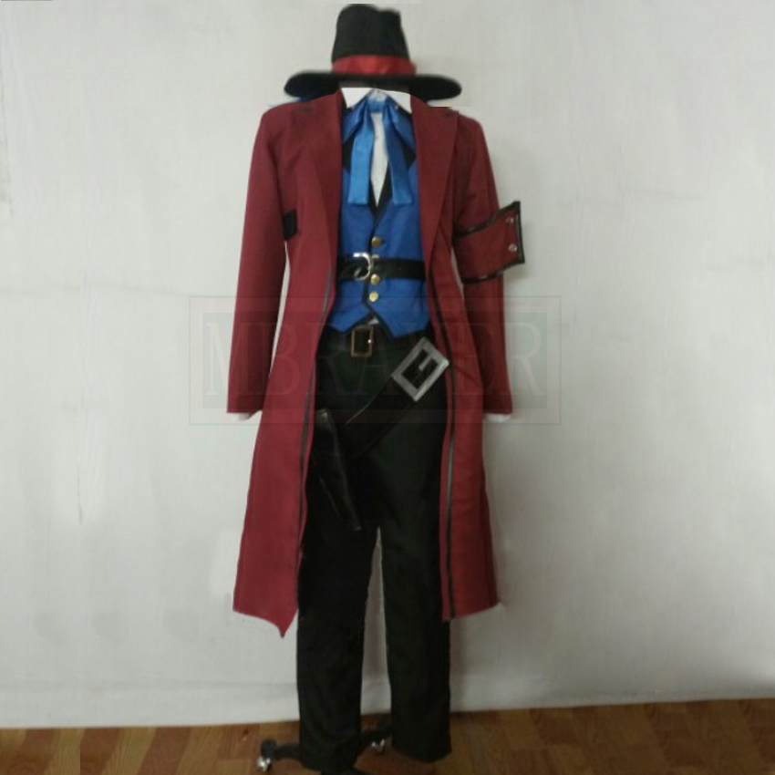 Game OW Jesse McCree Cosplay Costume Halloween Suit Costumes Custom Made
