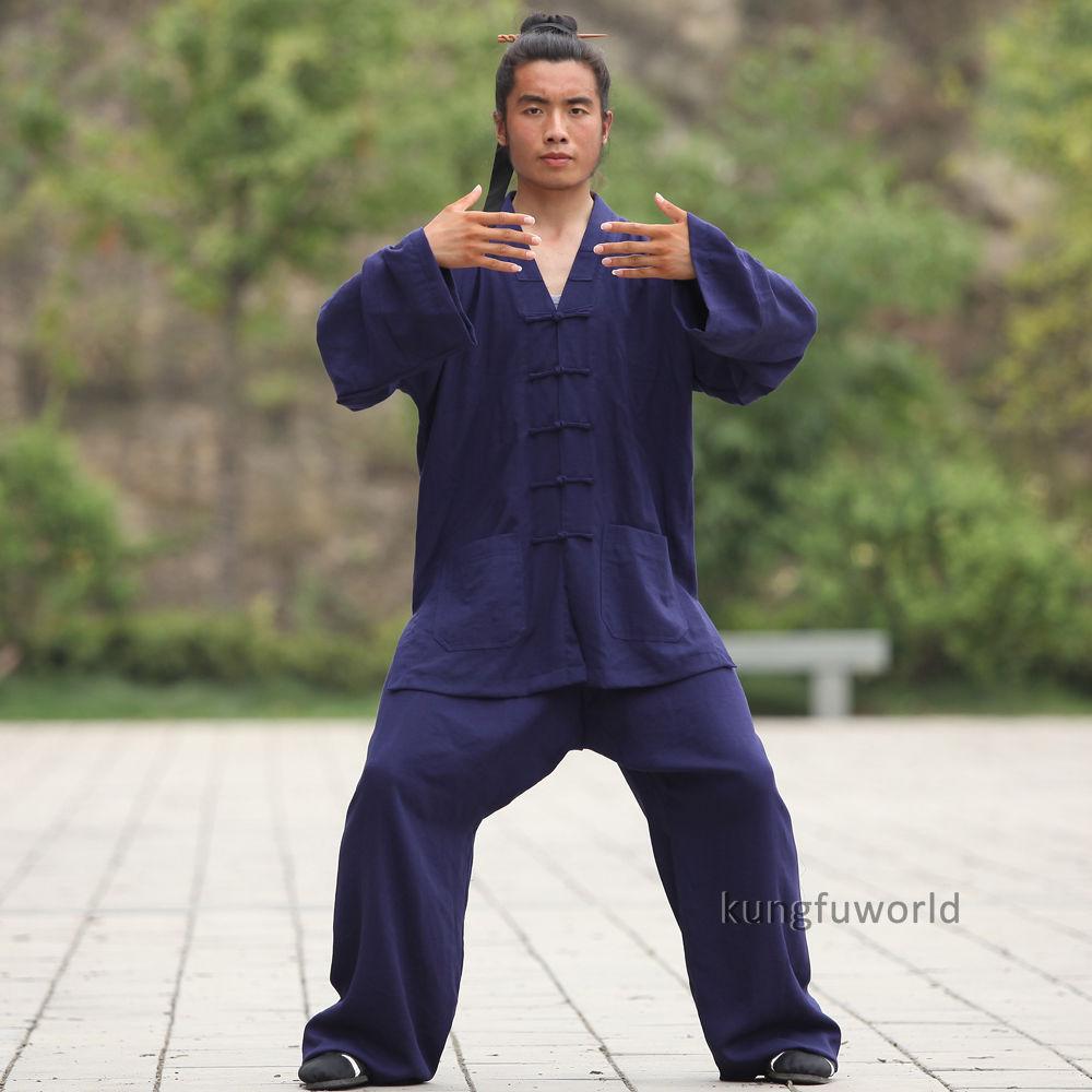 24 Colors Linen Wudang Taoist Martial Arts Kung Fu Suit Tai Chi Wing Chun Wushu Uniform