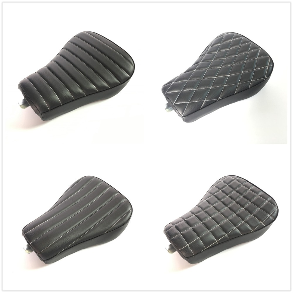 5 Models New Black Motorcycle Front Driver Leather Pillow Solo Seat Cushion For Harley Sportster Forty Eight XL1200 883 72 485 Models New Black Motorcycle Front Driver Leather Pillow Solo Seat Cushion For Harley Sportster Forty Eight XL1200 883 72 48
