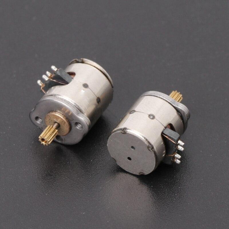 10 шт. 3-5 в постоянного тока 2 фазы 4 провода диаметром 8 мм Dc шаговый двигатель микро шаговый двигатель для цифровых продуктов размер камеры 8*9,5 мм