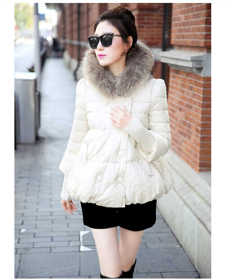 New Arrival Fashion Korean Winter Hooded Cotton Adjustable Hem Double-Breasted Puff Sleeve Fur Collar Women Jacket Coat H4283 new arrival fashion korean winter hooded cotton adjustable hem double breasted puff sleeve fur collar women jacket coat h4283