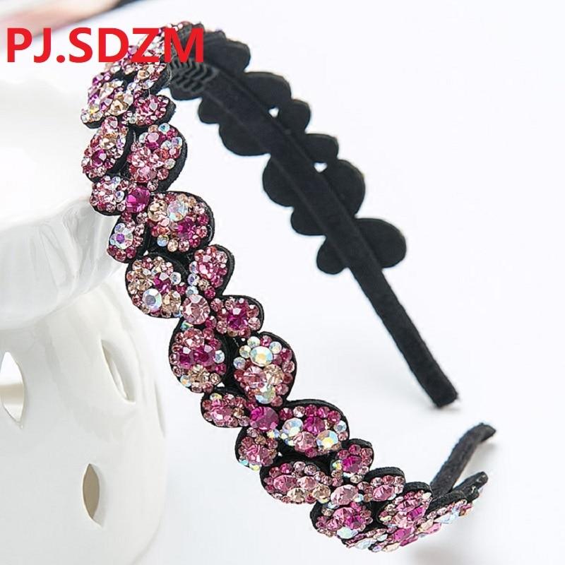 3 teile/los Luxus Royal Queen Schmetterling Haar Band Nacht Mädchen Party Strass Haar-accessoire Nacht Club Abend Stirnbänder Braun