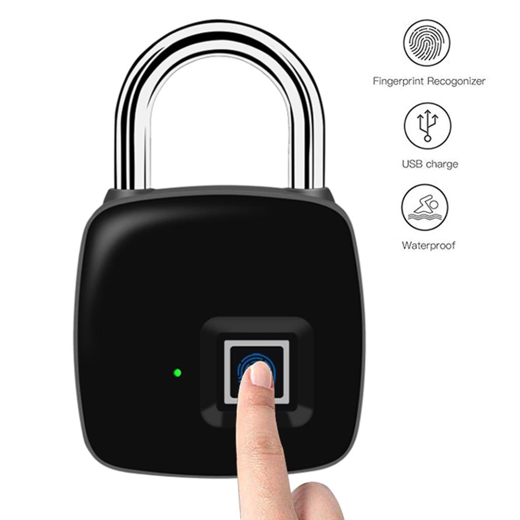 P3 Smart Electronic Lock Small Smart Security IP65 Waterproof Backpack Luggage Cabinet Door Lock Padlock