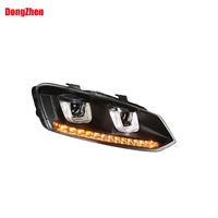 Dong Zhen Headlight With Bi Xenon Projector With 12 LED Light Headlight Car Styling Fit For