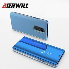ФОТО aierwill mirror flip leather case for xiaomi redmi note 4 global cover for xiaomi redmi note 4x luxury full protection pc case