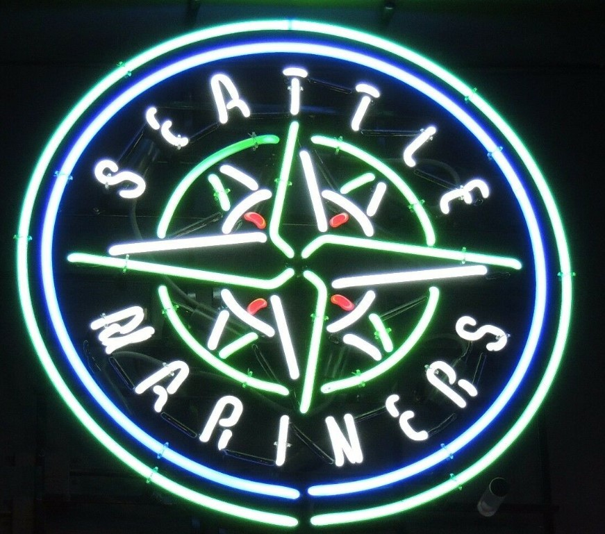 Custom Seattle Mariners Glass Neon Light Sign Beer Bar image