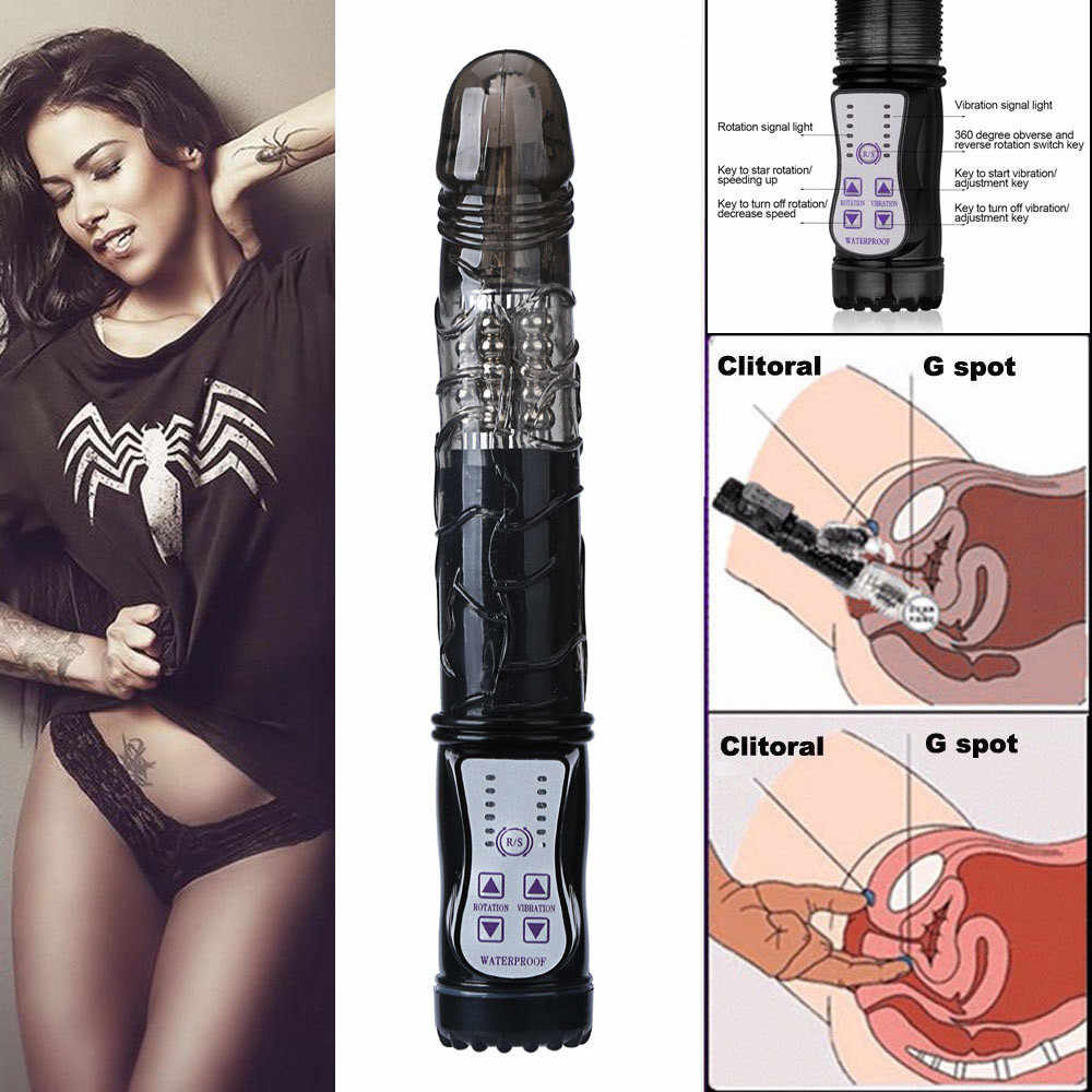 Multispeed Waterproof Vibrator Dildo G-spot Clit Massager Adult Sex Toys for Woman Anal Plug Dildo Rabbit Adult Sex Toys