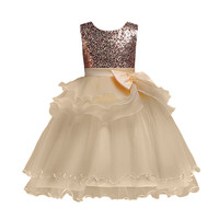 MUQGEW dress Floral Girl Princess Pageant Gown Birthday Party Wedding O Neck Sleeveless Dress robe pour fille vestido para menin
