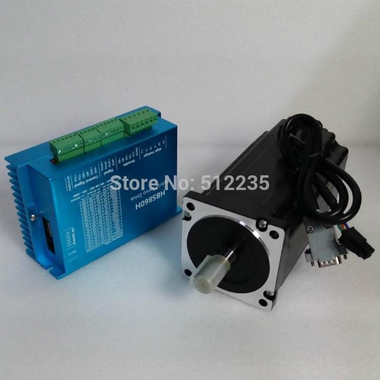 цена на CNC Stepper Motor Set HBS860H+86HBS120 NEMA34 12Nm 6A Closed Loop Stepper Drive +Motor Kit for CNC Engraving Cutting Machine