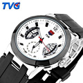 Reloj Hombre Luxury Brand TVG Watches Men Silicone Strap Quartz-Watch F1 Men Sports Watch 30M Waterproof Erkek Kol Saati
