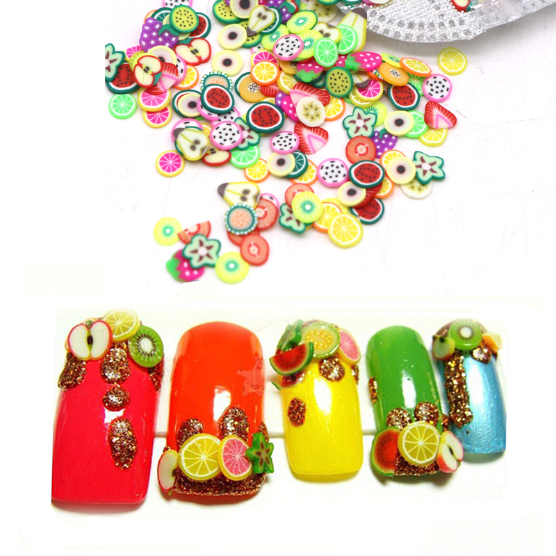 Slice-Decorations Fimo-Slices Fruit Nail-Stickers Polymer-Clay Manicure-Nail-Design Beauty