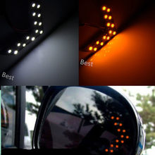 2Pcs Car Accessories Rearview Mirror LED Turn Signal Light Safe Indicator Parking Lamp For BMW VW Audi Ford Opel Honda Toyota(China)
