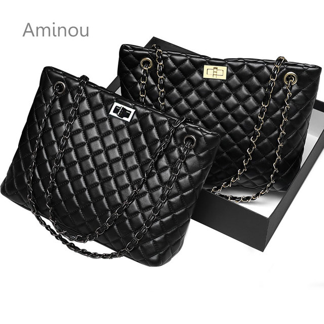 9f5675a59fdd2 2018 luksusowa marka kobiety torba w szkocką kratę duże torby na ramię  torebki damskie projektant czarna