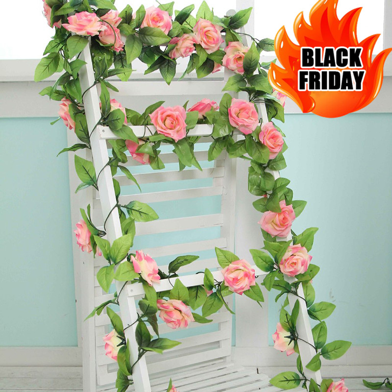 240cm Artificial Flower Home Decoration Wedding Flowers Fake Silk Rose Arti..