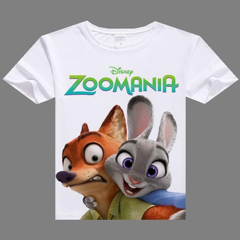 Zootopia shirt digital printed hot anime Zootopia t shirt clothes Judy Hopps  short-sleeve Zootopia T-shirt men tshirt