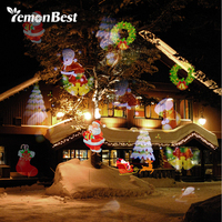 12 Patterns 8W Mery Christmas Lights Outdoor LED Snowflake Projector Light Lawn Lamp IP65 Waterproof Halloween