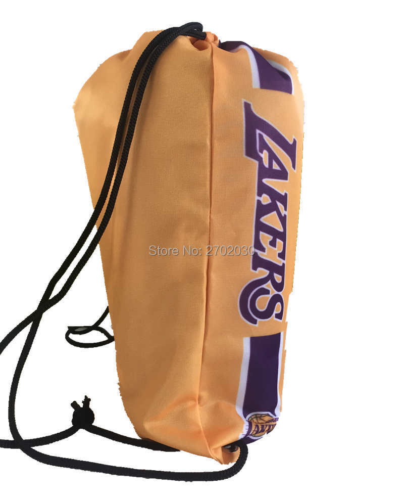 bb07ccc2b1 Los Angeles Laker Basketball Team Drawstring Bags Men Sports Backpack  Digital Printing Pouch Customize Bags 35 45cm US -in Flags