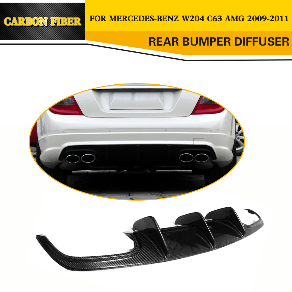 <font><b>W204</b></font> Carbon Fiber Rear Lip <font><b>Spoiler</b></font> Diffuser For <font><b>Mercedes</b></font> <font><b>Benz</b></font> <font><b>C</b></font> <font><b>Class</b></font> <font><b>W204</b></font> C63 AMG 4 Door Only 2009-2014 image